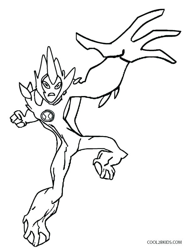Scary Alien Coloring Pages