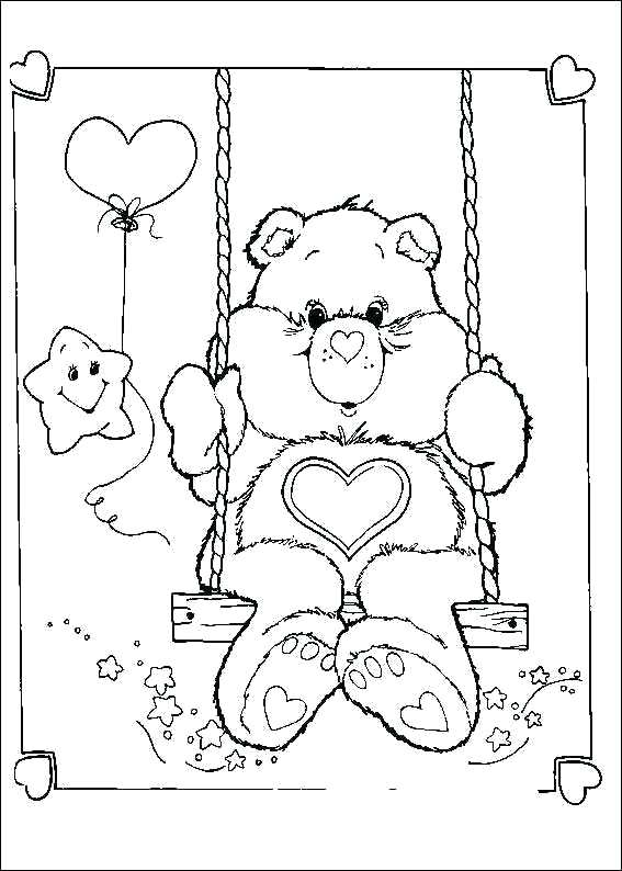 567x794 Care Bears Coloring Pages Scare Up Some Fun Care Bears Coloring