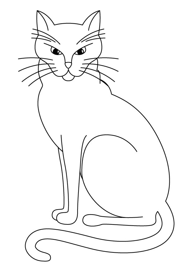 620x875 Black Cat Coloring Pages Stylist Ideas Black Cat Coloring Page