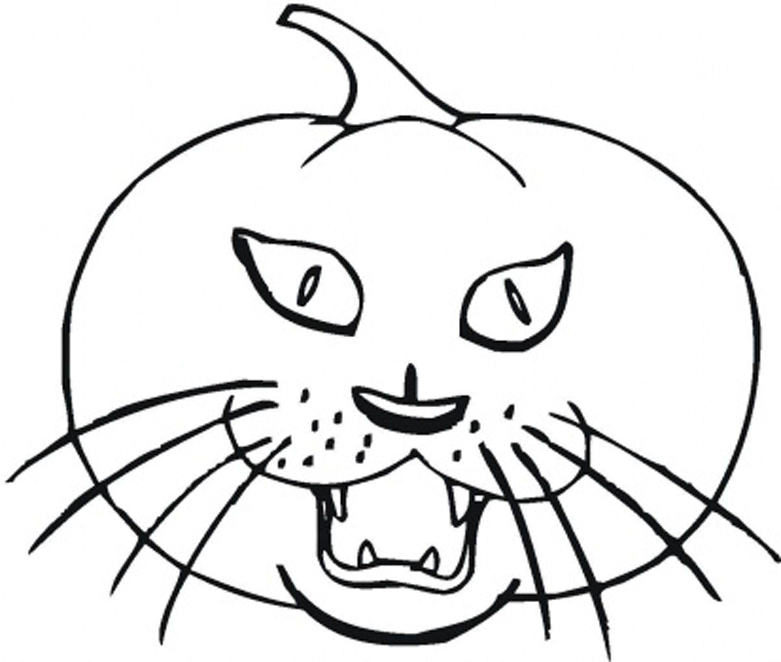 2550x2161 Halloween Cat Coloring Pages
