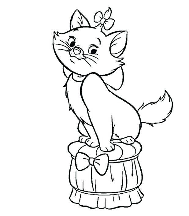 618x706 Black Cat Coloring Page Scared Cat Cartoon Coloring Pages Scared