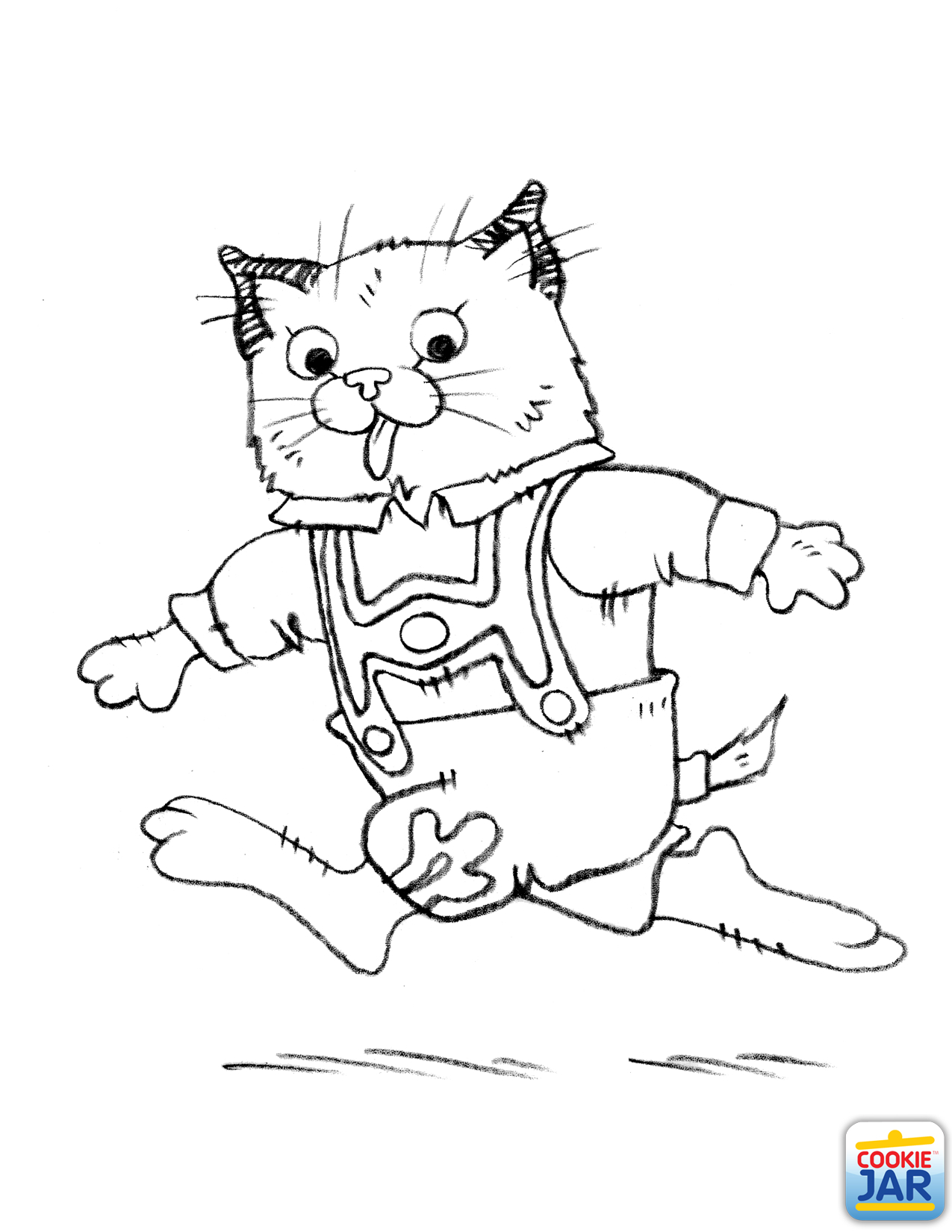 1275x1650 Huckle Cat Coloring Page