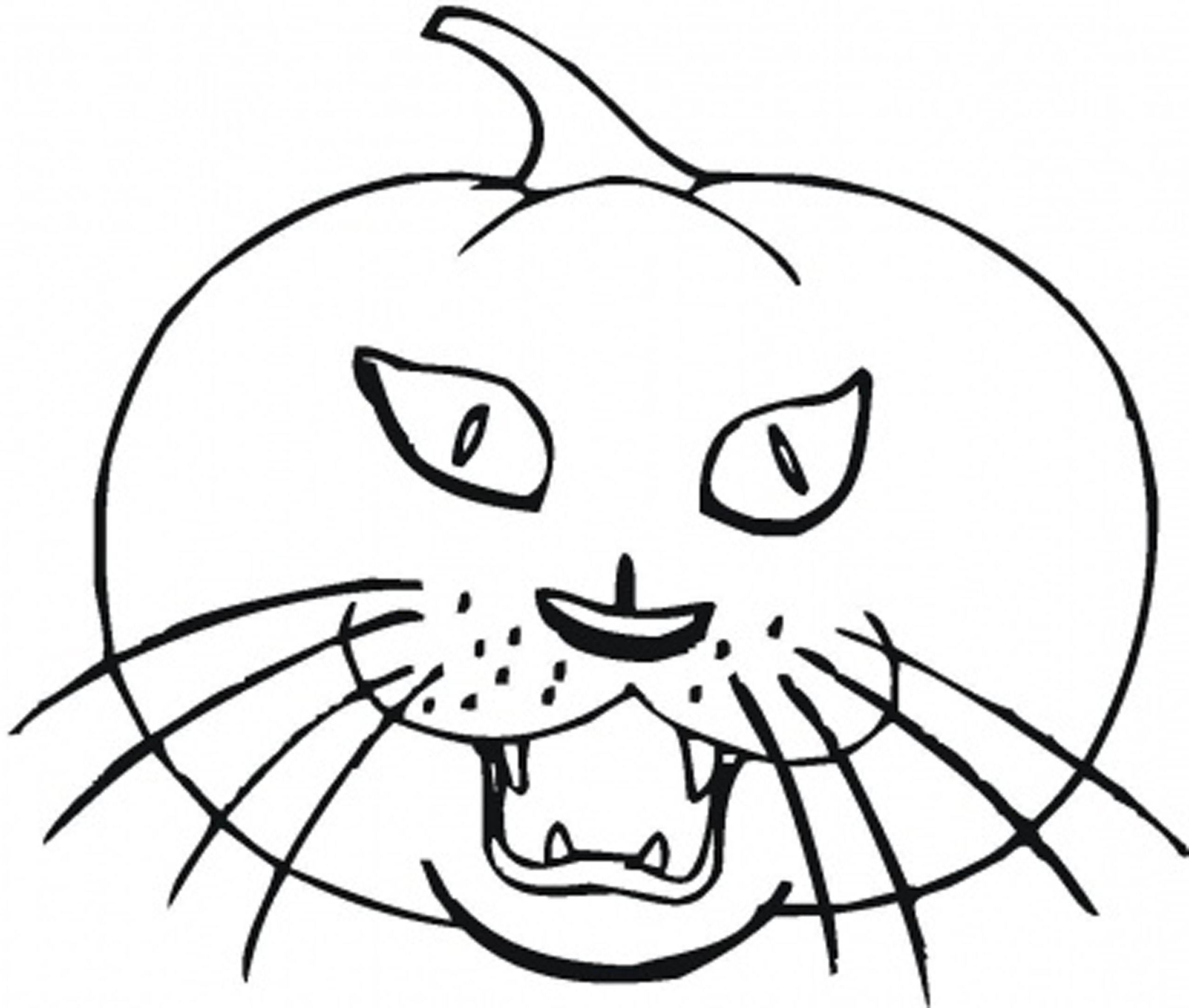 2550x2161 Appealing Halloween Coloring For Scary Cat Concept And Page Style