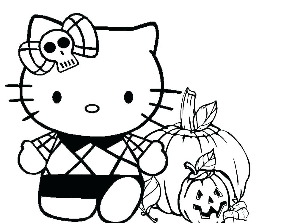 982x750 Scary Halloween Coloring Pages Spooky Coloring Pages Hello Kitty