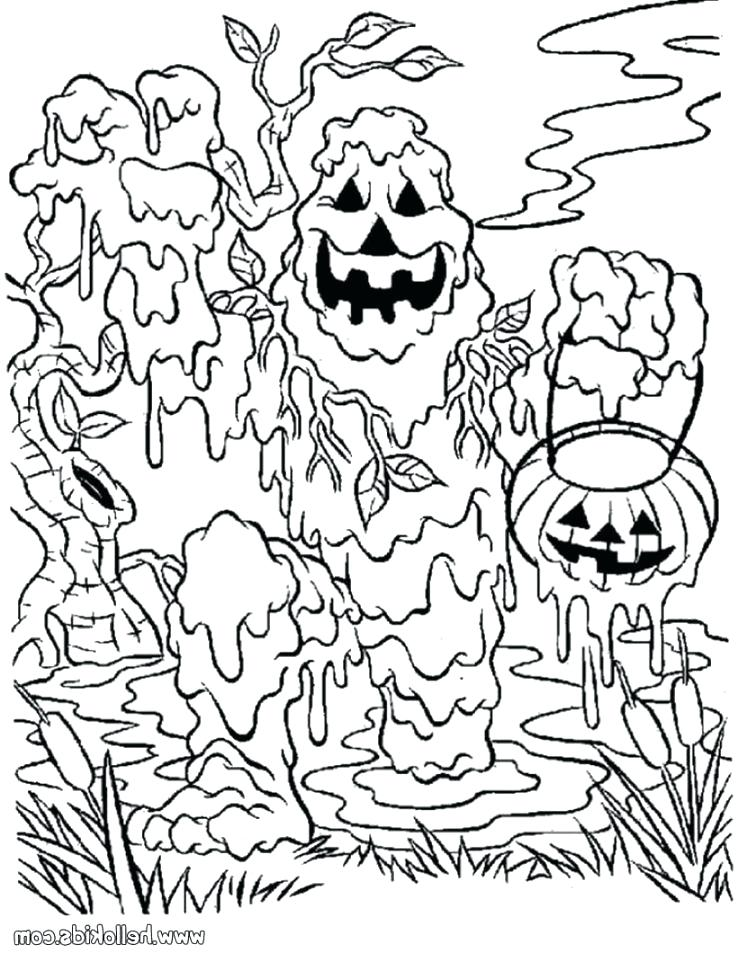 738x954 Spooky Coloring Pages