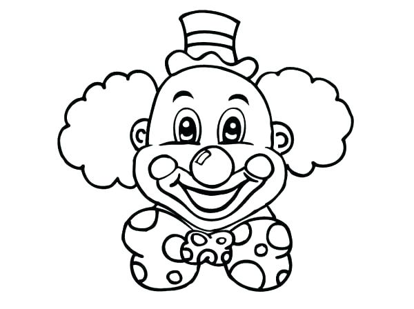 600x448 Clown Coloring Page Clown Coloring Sheets Laughing Clown Head