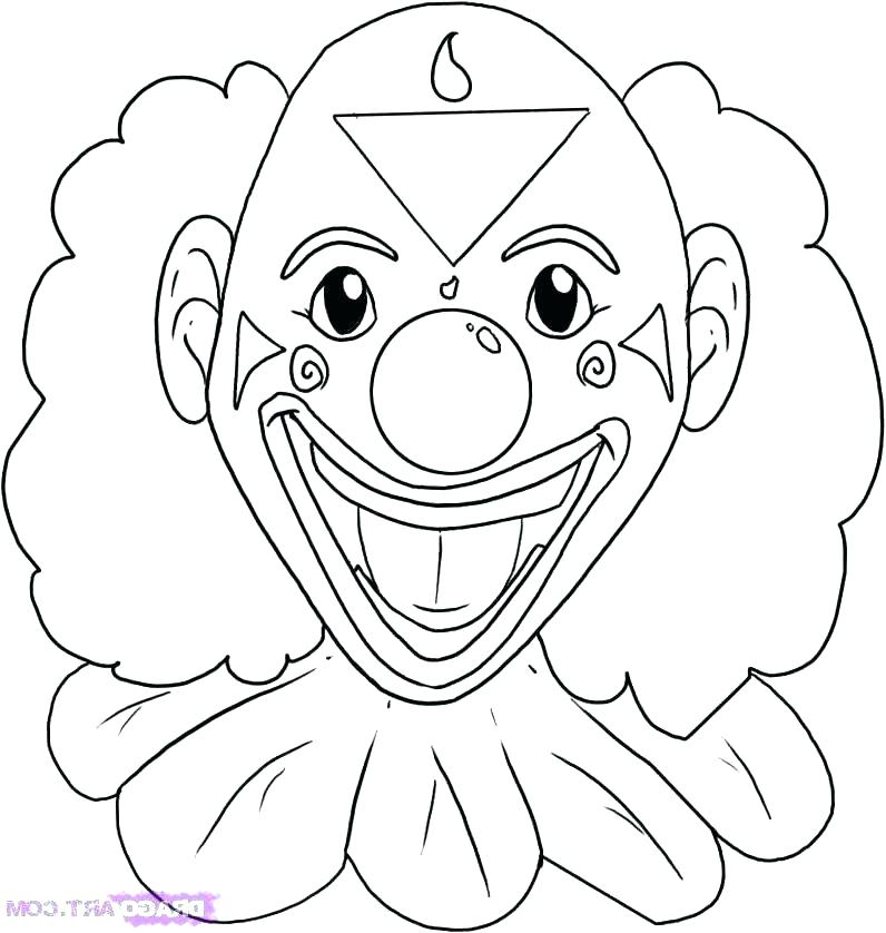 796x838 Clown Coloring Pages Scary Clown Coloring Page Clown Drawing Free