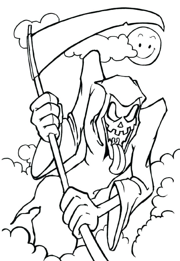 621x900 Printable Coloring Pages Happy Pictures Creepy Adult Cool Creepy