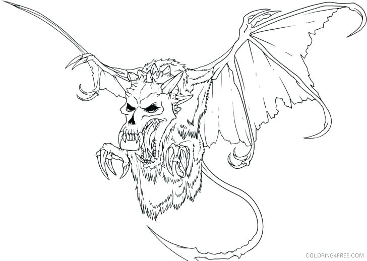 728x518 Scary Coloring Pages To Print Scary Coloring Pages To Print Scary