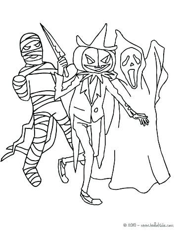 364x470 Creepy Coloring Pages Creepy Monster Coloring Pages Kids Coloring