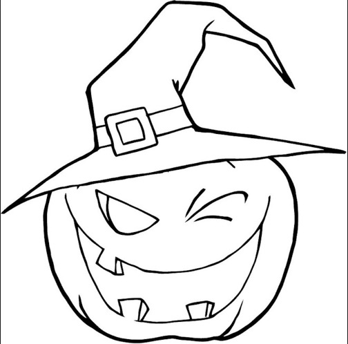 504x498 Scary Pumpkin Coloring Page Coloring Book