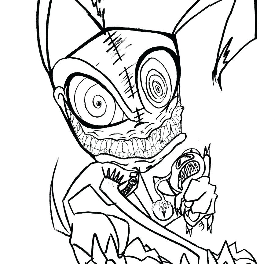 900x864 Scary Alien Coloring Pages Free Printable Scary Creepy Coloring