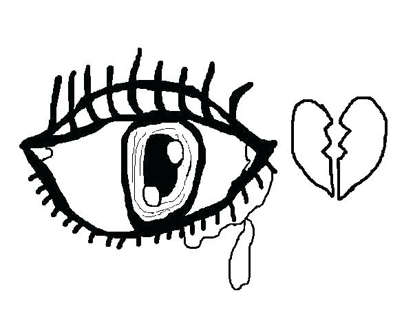 600x470 Eyes Coloring Page Eye Coloring Sheet Eyes Coloring Pages Crying