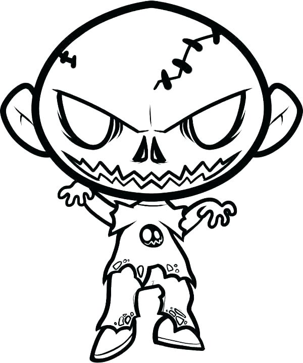 600x718 Scary Halloween Coloring Pages Zombie Coloring Pages S Scary Scary