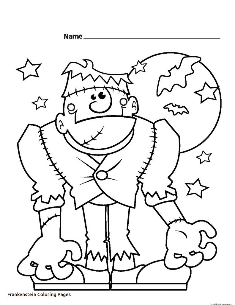 791x1024 Halloween Coloring Pages For Kids Free Scary Frankenstein Adults
