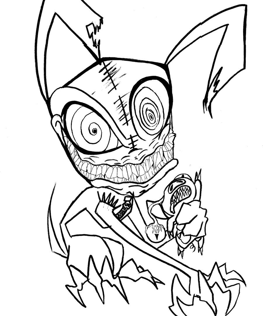 900x1080 Scary Halloween Printable Coloring Pages Creepy