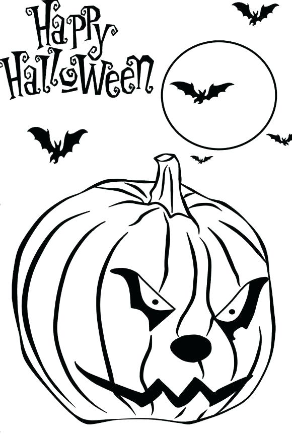 Scary Pumpkin Coloring Pages At Getdrawings Free Download