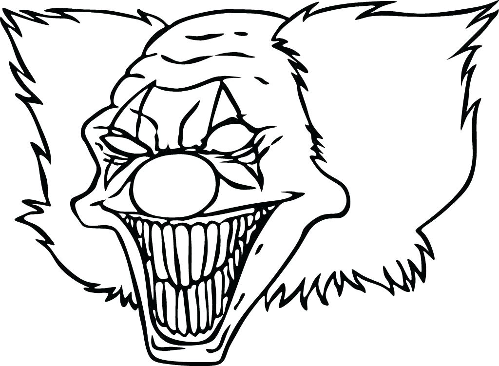1024x751 Scary Clown Coloring Page Scary Pumpkin Coloring Pages Scary Scary