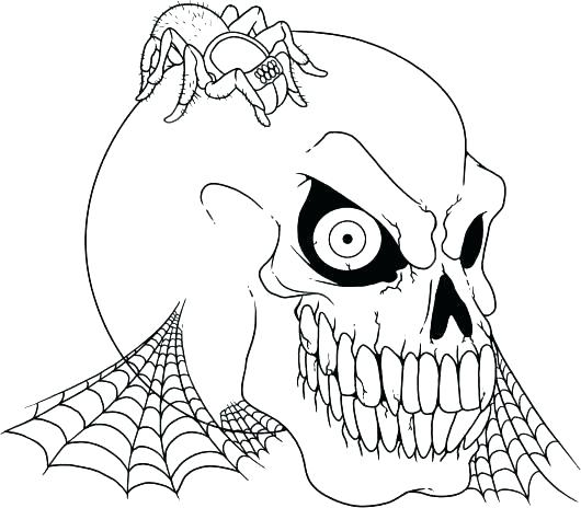 530x464 Scary Coloring Pages Scary Coloring Pages Devil Face Clown Scary