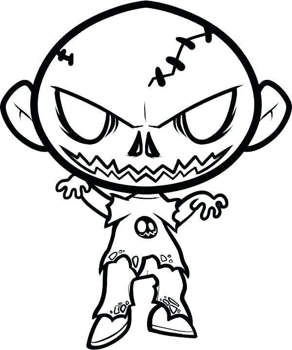 600x718 Scary Coloring Pages Scary Coloring Pages Scary Pumpkin Coloring