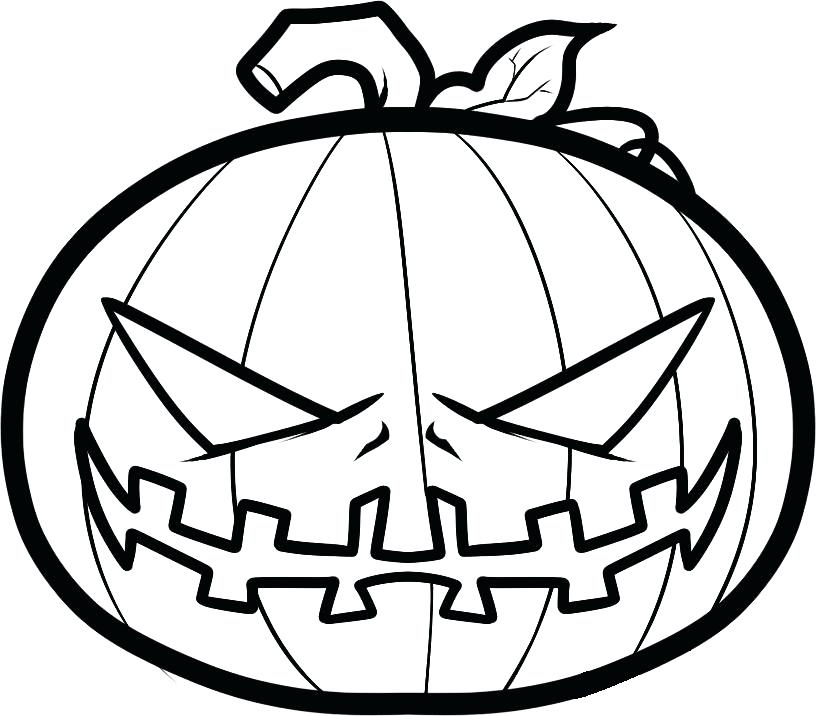 816x716 Pumpkin Coloring Pages Pumpkin Coloring Pages Scary Pumpkin