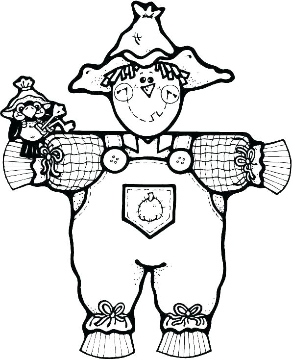 596x734 Free Scarecrow Coloring Pages Scarecrow Coloring Page Scarecrow