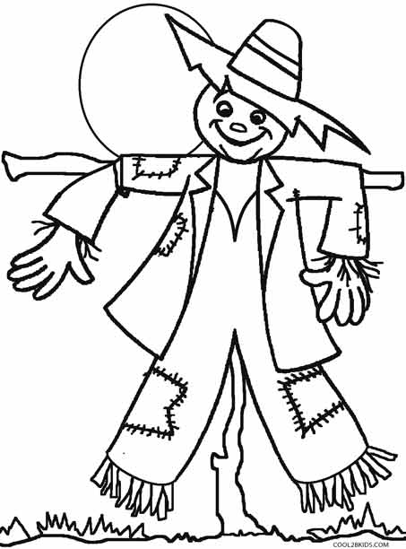 453x612 Coloring Pages Scarecrow Printable Scarecrow Coloring Pages