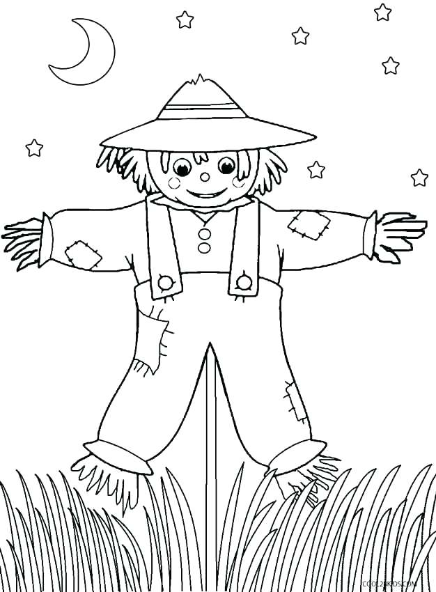 626x850 Free Printable Scarecrow Coloring Pages Scarecrow Coloring Pages
