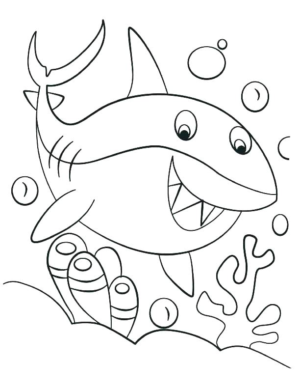 612x792 Great White Shark Coloring Pages Great White Shark Coloring Pages