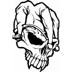 300x300 Scary Coloring Pages For Adults Joker Skull Face