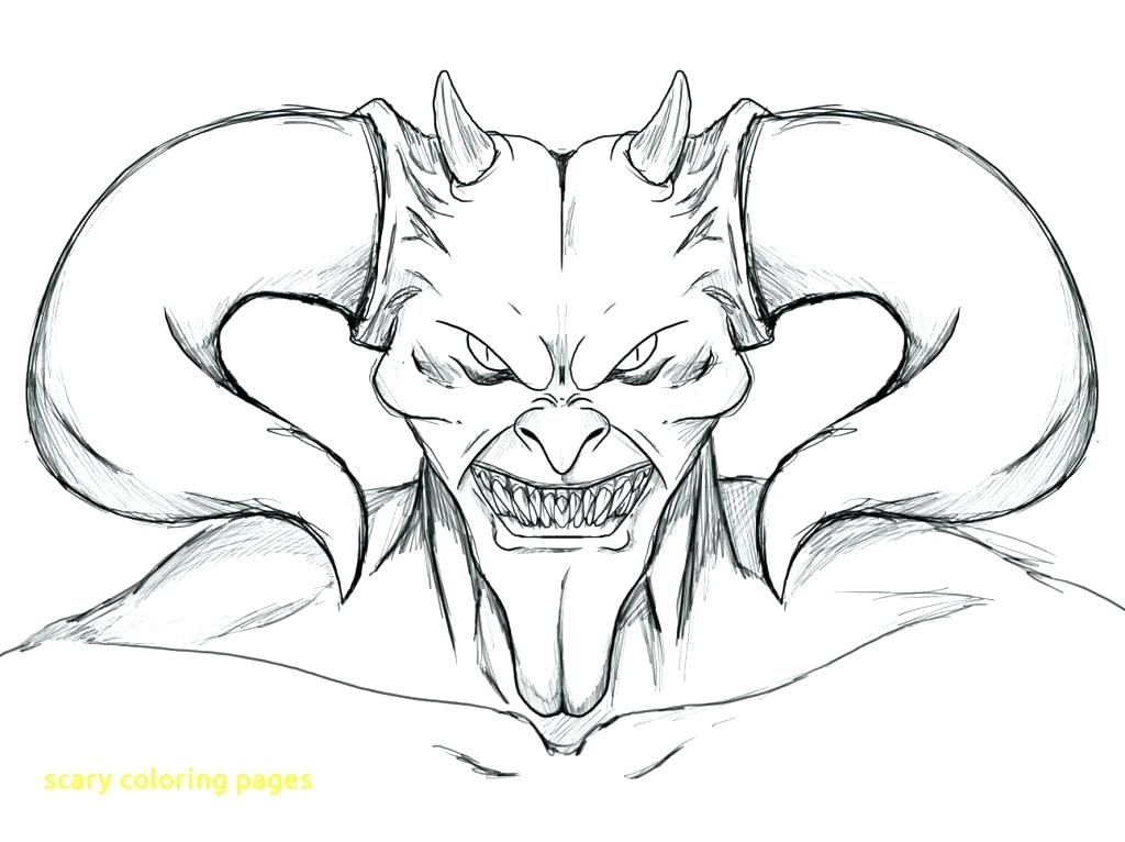 1024x766 Scary Coloring Pages Scary Girl Coloring Page Scary Monster