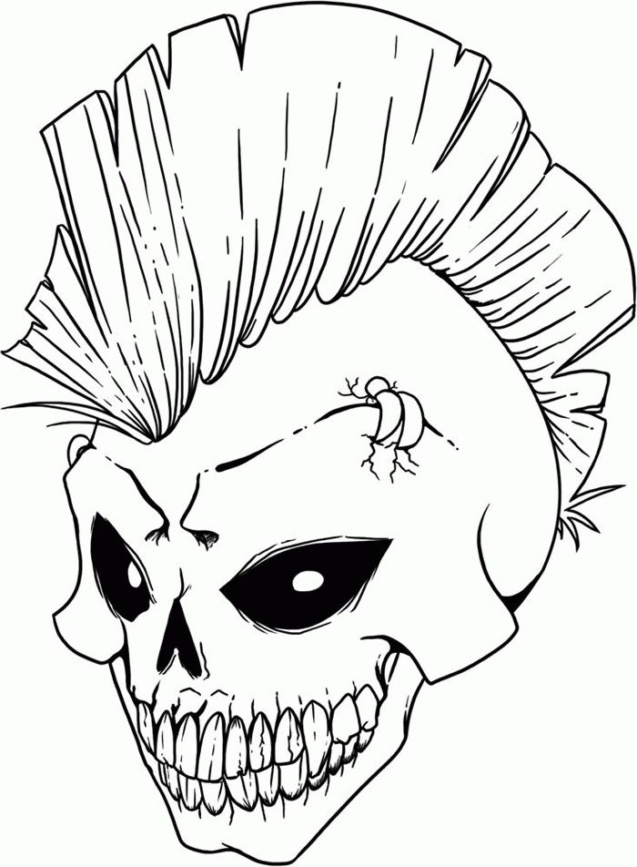 700x952 Scary Skeleton Coloring Pages Best Halloween Coloring Pages
