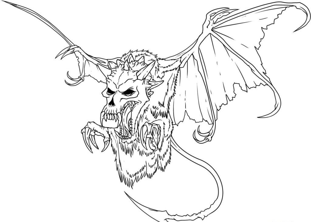 1024x729 Scary Skeleton Coloring Pages Scary Coloring Pages Best Coloring