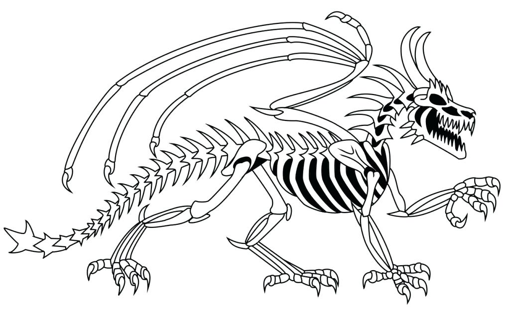 Scary Skeleton Coloring Pages at GetDrawings | Free download