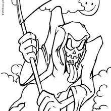 220x220 Skeleton's Halloween Celebration Coloring Pages