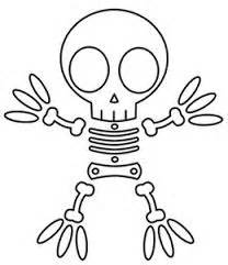 208x241 Skeleton Head Coloring Pages