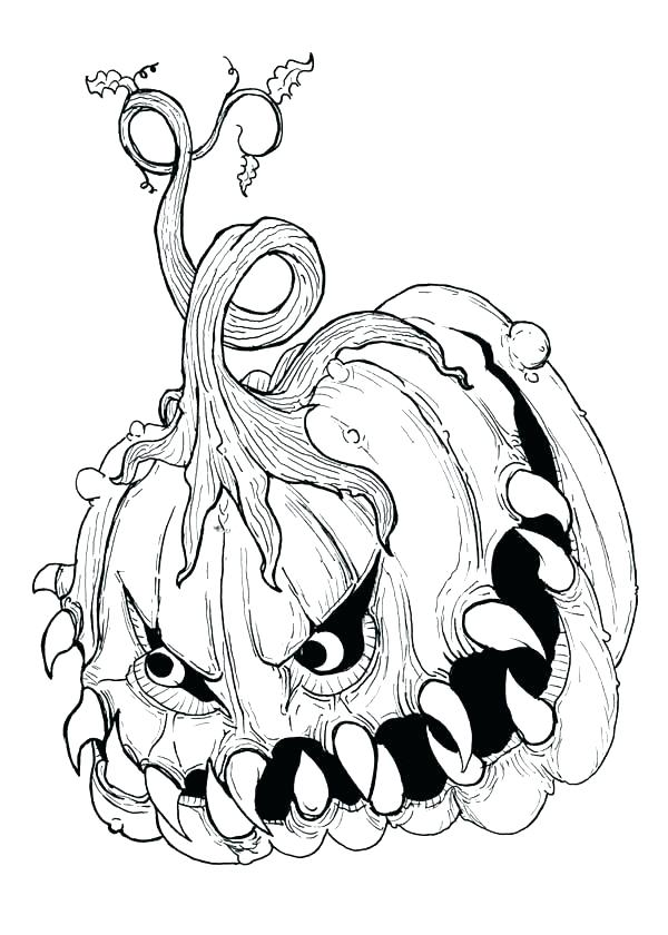 600x840 Spooky Halloween Coloring Pages Spooky Skeleton Looks Over