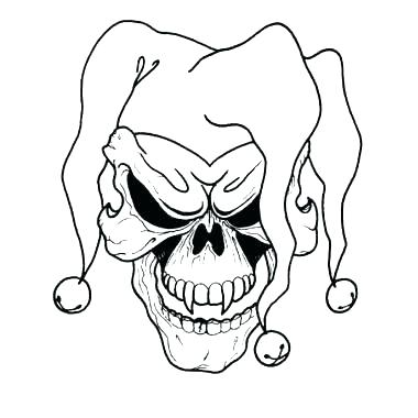 380x380 Clown Coloring Scary Coloring Sheets Clowns Coloring Pages Scary