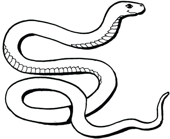 Scary Snake Coloring Pages