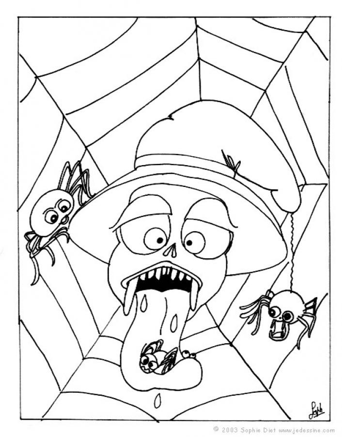 706x900 Scary Black Widow Coloring Pages