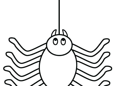 440x330 Spider Web Coloring Page Spider Web Coloring Pages Scary Spider