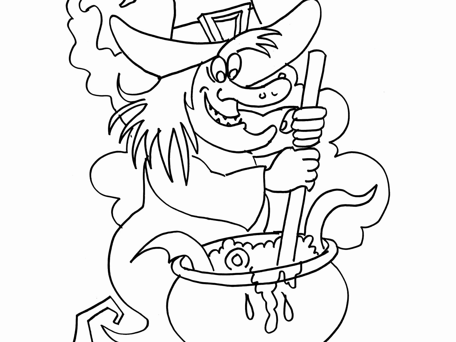 Scary Witch Coloring Pages at GetDrawings | Free download