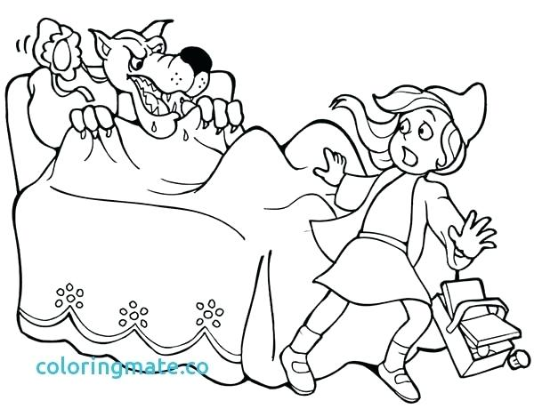600x469 Little Red Riding Hood Coloring Pages Little Red Riding Hood