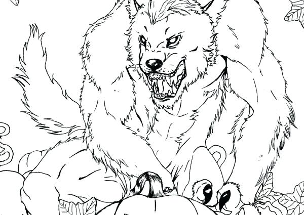 600x425 Werewolf Coloring Pages Click To See Printable Version Of Werewolf