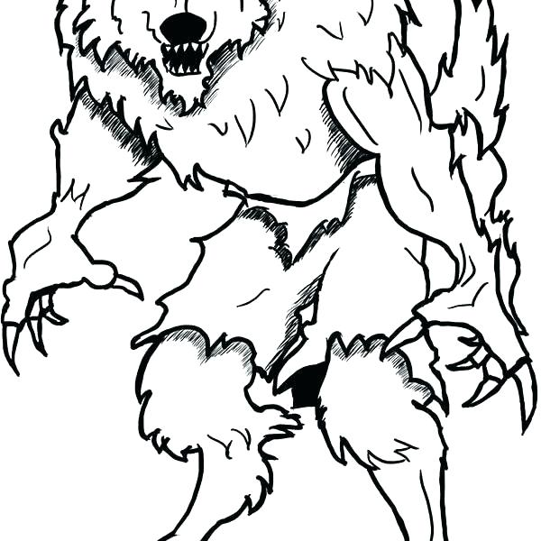 600x600 Werewolf Coloring Pages Coloring Pages Werewolf Coloring Page