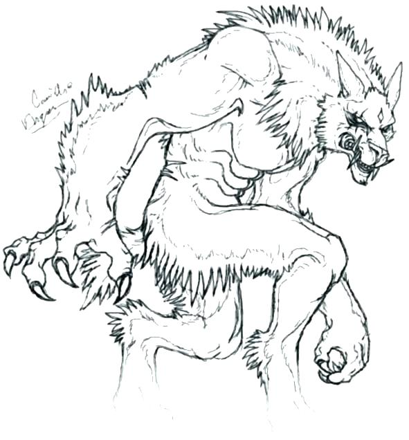 591x636 Werewolf Coloring Pages Notorious Werewolf Coloring Page Girl