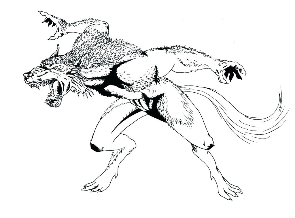 1024x760 Werewolf Coloring Pages Werewolf Coloring Pages Page Characters
