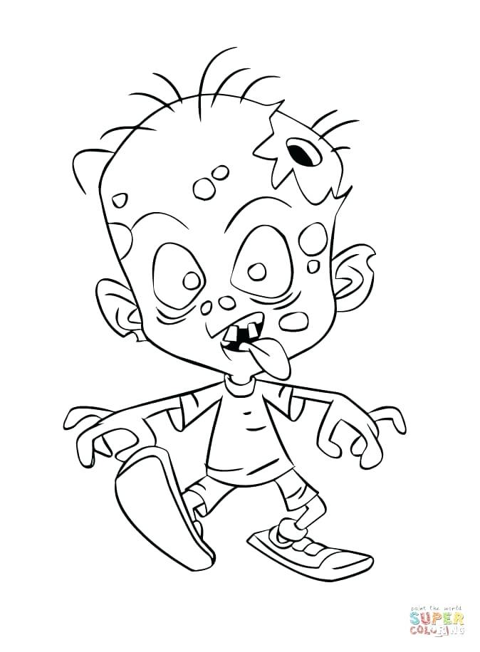 674x916 Zombie Coloring Pages Zombie Child Scary Zombie Halloween Coloring