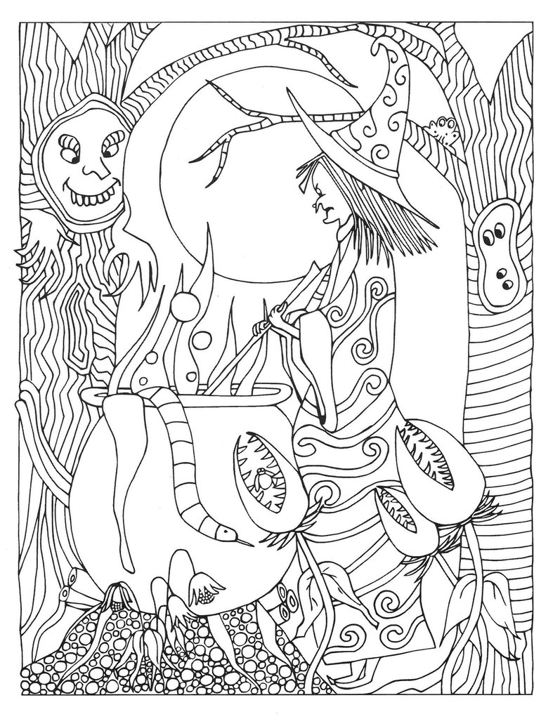 Scavenger Hunt Coloring Pages