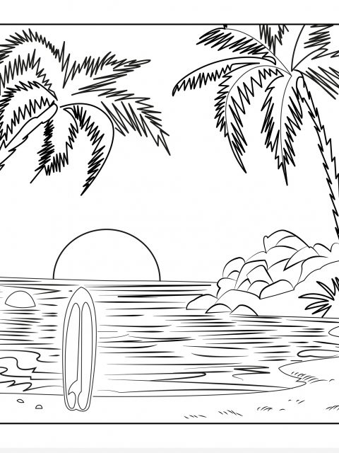 480x640 Scenic Coloring Pages Timykids